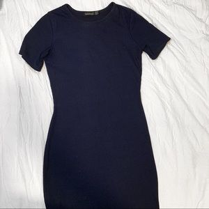 Blue fitted midi Dress